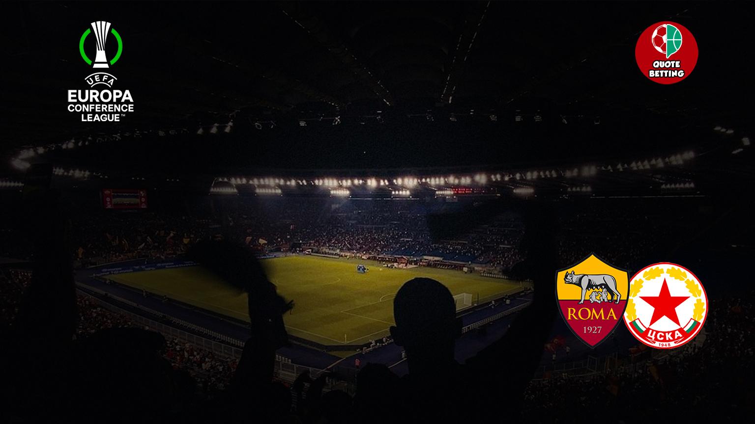 KUTIPAN roma-cska sofia tempat untuk melihat di TV, prediksi formasi, peluang, sepak bola, liga konferensi UEFA