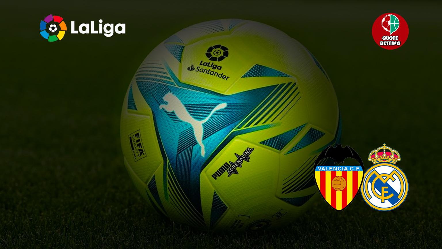 valencia real madrid odds mana untuk melihat di tv peluang prediksi formasi la liga spanyol taruhan sepak bola valencia-real