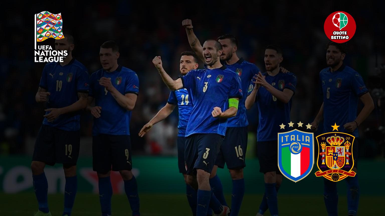 italia spanyol peluang tempat untuk melihat di tv prediksi formasi peluang taruhan olahraga liga negara pertandingan berikutnya italia hari ini sepak bola nasional italia